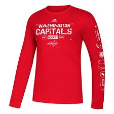Washington Capitals Adidas NHL Amplifier Long Sleeve T-Shirt Adult XXL