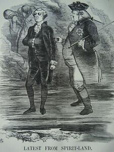 1863 Antique Victorian Print USA KING GEORGE III TO WASHINGTON AND THE REPUBLIC