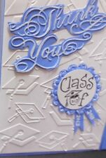 Fancy SCROLLY THANK YOU Border  Embossing folder + Stampin Up punchies
