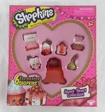 New Valentine' Day Shopkins Sweetheart Collection Heart Red Box 6 Exclusive
