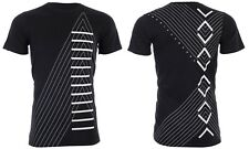 Armani Exchange Mens S/S T-Shirt INVERTED Designer BLACK Casual S-2XL $45