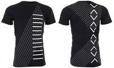 Armani Exchange Mens S/S T-Shirt INVERTED Designer BLACK Casual S-2XL $45