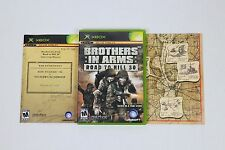 Brothers in Arms: Road to Hill 30 (Microsoft Xbox, 2005) COMPLETE W/MAP Tested