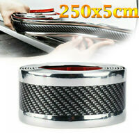 5CM*2.5M Car Sticker Carbon Fiber Rubber Door Sill Protector Edge Guard Strip