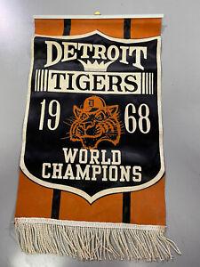 Vintage 1968 Detroit Tigers World Champs banner
