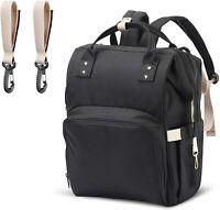 Mommy Diaper Bag, Shoulder Bag, Multifunction Waterproof big Capacity Black