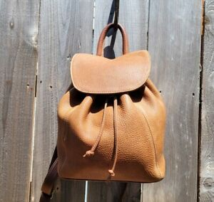 VTG Coach Sonoma #4911 Drawstring Cognac Leather Backpack Sling Shoulder Bag