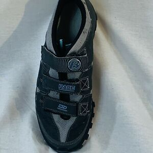 Bontrager Woman Inform Race Mountain Gray Cycling Shoes Sz 8.5 Two Bolt