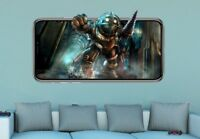 Bioshock Wall Decal VideoGame 3D Sticker Decor Mural Vinyl Kids Room MA51