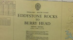 ADMIRALTY SEA CHART. No.1613.EDDYSTONE ROCKS to BERRY HEAD. ENGLAND S.Coast.1972