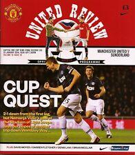 MANCHESTER UNITED v SUNDERLAND League Cup Semi-Final 2nd Leg 2013/14 MINT