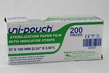 Uni-Pouch Self Seal Sterilisation Pouches 57x100mm - 200pcs - Australian Seller