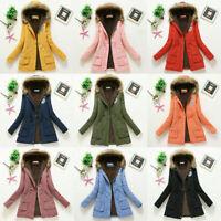 Warm Outwear Women Winter Hooded Windproof Faux Fur Parka Jacket Trench Coat
