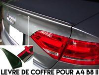 SPOILER LAME COFFRE BECQUET LEVRE AILERON pour AUDI A4 B8 8K2 II 2011-15 TFSI V6
