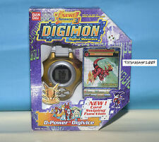 DIGIMON DIGIVICE D-POWER Guilmon US VER 1 GOLDEN COL NEW With CARD RARE ONLY ONE