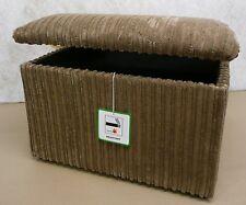 Large Camel Jumbo Cord Fabric Pouffes/ Storage Box/ Footstools