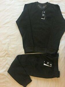 Mens Plain Crew Neck jogging suit Full Tracksuit