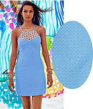 Lilly Pulitzer Seaspray Blue Larina Shift Dress Size 12