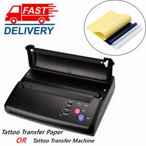 Tattoo Transfer Paper Copier Tattoo Thermal Stencil Maker Printer Machine US