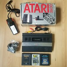 Boxed AV Modded Atari 2600 Junior PAL Console Joystick Gold RCA Skate Boardin'