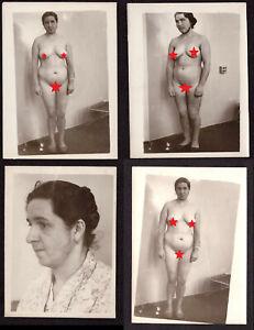 Set Lot Old Vintage Original Real Photo Young Pretty Lady Woman Naked Hirsutism