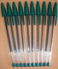 10 Stk. BIC Cristal Kugelschreiber grün #8373601 NEU