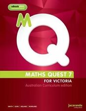Maths Quest 7 for Victoria A C Ed & Learnon by Smith, Elms, Rowland & Rowland