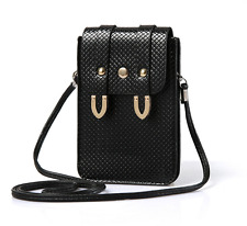 Black PU Leather Bag Purse Pouch Case for iPhone 7 Plus / LG G6 / LG V20 Stylo 3