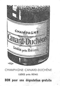 Ancienne Petite carte Publicitaire Champagne Canard Duchêne