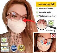 Gesichtsmaske - waschbar Baumwolle Stoff Maske Mundschutz 2-lagig