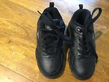 NEW YOUNG CHILDS VICTORY SPORTS  BLACK SNEAKERS SIZE 9 UK