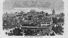 ROUMANIE * Bucarest/Bucuresti * vue générale * 1893 *
