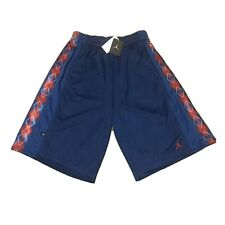 NWT Vintage Nike Air Jordan Shorts Sample Large 2008 Navy Blue White 356027 442