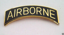 Airborne Tab Gold/ Black Us Army Military Hat Pin 14895 Ho