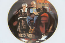 """Norman Rockwell """"Evening's Ease"""" Edwin Knowles Collectors Plate Vintage"""