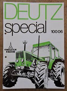 orig. Prospekt Deutz Special 100 06 Allrad Traktor Schlepper 1976