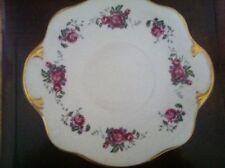 "Lovely Bone China Royal Tara Plate Vintage- Gold, Flowers 9 1/2"" Ireland"