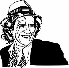 Sticker Rolling Stones 101 Keith Richards - 57x57 cm