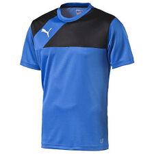 PUMA Mens Sports Football Esquadra Training Jersey T Shirt Top Short Sleeve Blue L