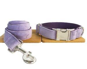 Dog Collar And Lead Set Plush Purple Pet UK Seller DC5