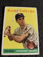 1958 Topps Rocky Colavito #368 Vintage Cleveland Indians Baseball Card