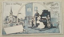 Vintage Antique Victorian Trade Card AB Chase Organs Norwalk, Ohio