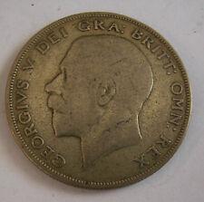 KING GEORGE V SILVER 1/2 CROWN 1922-KM #818.1a -FINE