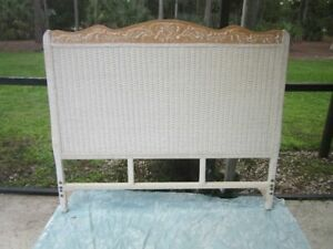 Pier 1 Imports Jamaica Collection Wicker Full Size Headboard White
