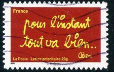 TIMBRE FRANCE AUTOADHESIF OBLITERE N° 614 / SOURIRES PAR L'HUMORISTE  BEN