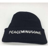 Black Hat Kpop Bigbang GD G Dragon FXXK IT Unisex Peaceminusone Knit Hat Beanie