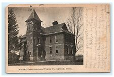 North Fairfield Ohio OH High School Postcard UDB 1907 Norwalk