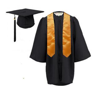 Graduation Gown & Hat & stole set Children--MATT finish for Nursery age 3 - 6