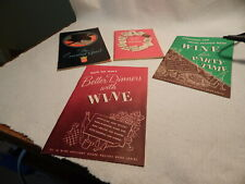 Four Vtg 1940 50S Cocktail Booklet S Hiram Walker 21 Brands Recipes Barware