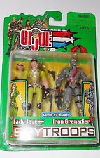 GI joe 2003 LADY JAYE as BARONESS vs IRON GRENADIER spy troops spytroops moc